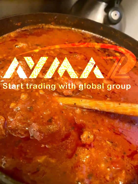 Production of tin tomato paste